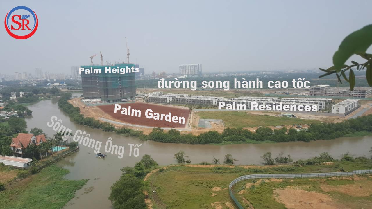 Vị trí dự án Palm Garden Keppel Land