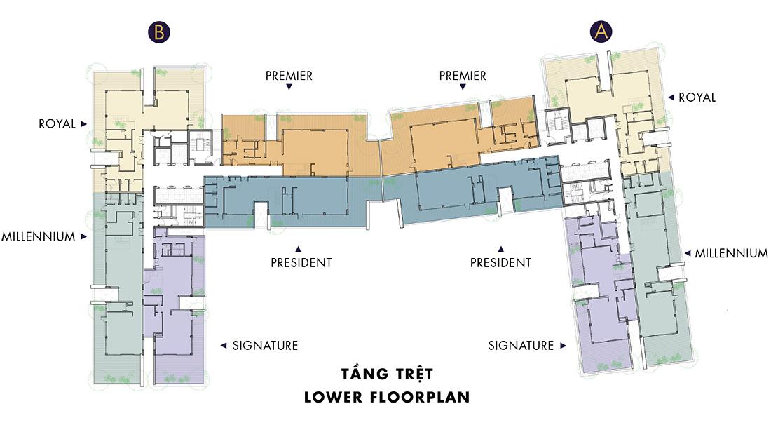 Mặt bằng dự án căn hộ Millennium Quận 4