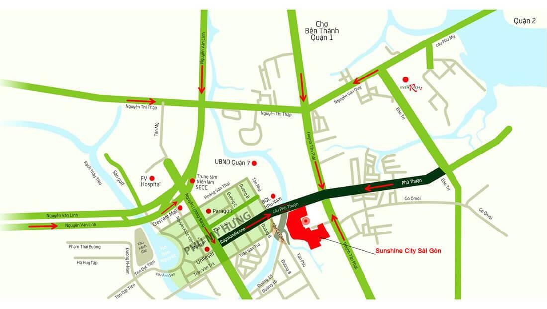 Vị trí dự án Sunshine City Sài Gòn có thuận lợi cho việc an cư?
