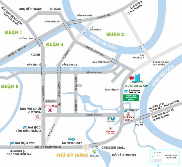 Vị trí dự án Eco Green Sài Gòn mang lại những lợi thế gì?