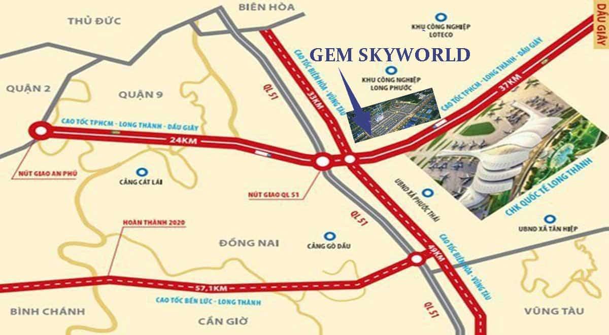 Vị trí dự án Gem Skyworld có gì nổi bật?