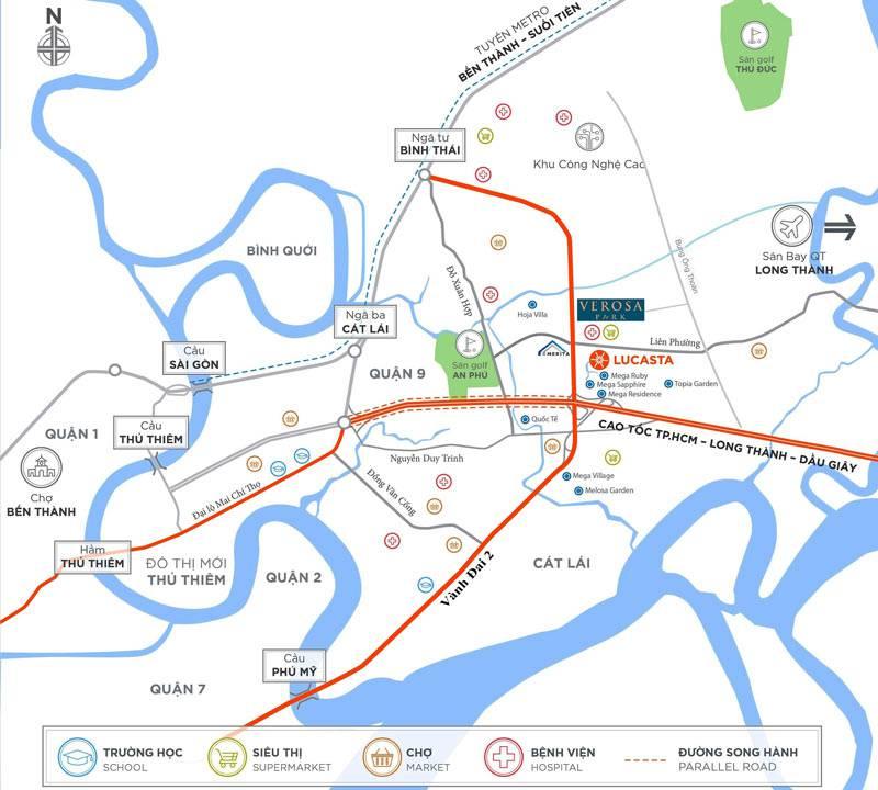 Phân tích vị trí dự án Verosa Park Khang Điền